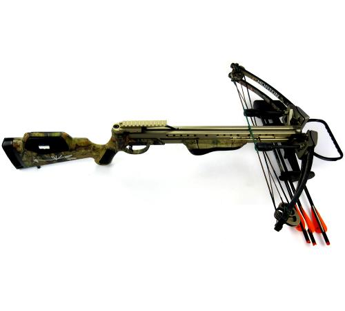 Norman Reedus Signed Horton Brotherhood Camo Full Size Crossbow - The Walking Dead