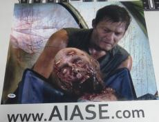 Norman Reedus Signed The Walking Dead 16x20 Photo PSA/DNA COA Poster Autograph 4