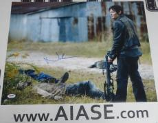 Norman Reedus Signed The Walking Dead 16x20 Photo PSA/DNA COA Picture Autograph