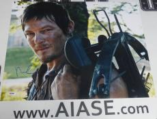 Norman Reedus Signed The Walking Dead 16x20 Photo PSA/DNA COA Poster Autograph