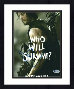 Norman Reedus Signed 'The Walking Dead' 8x10 Photo BAS Becket C16512