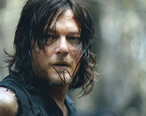 Norman Reedus Signed The Walking Dead 8x10 Photo w/COA TWD Daryl Dixon
