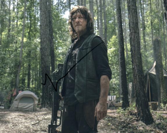 Norman Reedus Signed The Walking Dead 8x10 Photo w/COA TWD Daryl Dixon #4