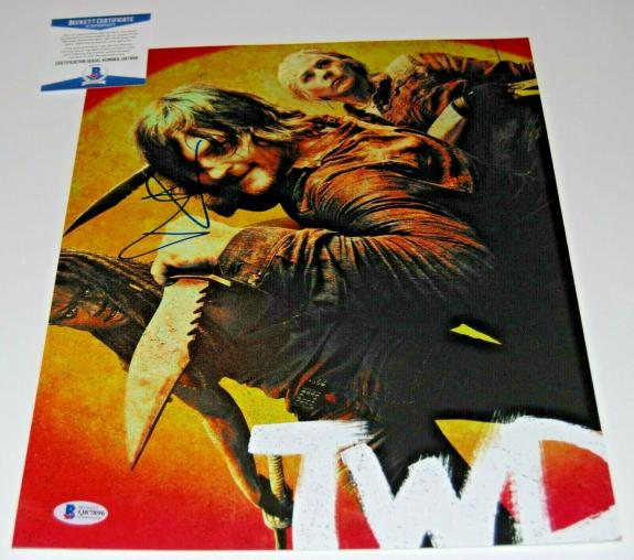 NORMAN REEDUS signed (THE WALKING DEAD) Daryl Dixon 11x14 photo BECKETT COA #1