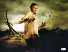 Norman Reedus Signed The Walking Dead Daryl Dixon Crossbow 11x14 Photo JSA