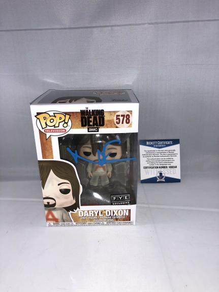 Norman Reedus Signed The Walking Dead Daryl Dixon Funko Pop Bas Beckett 3