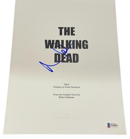 Norman Reedus Signed The Walking Dead Pilot Script Autograph Beckett Coa