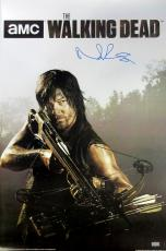 Norman Reedus Signed The Walking Dead Season Four Full Size Poster