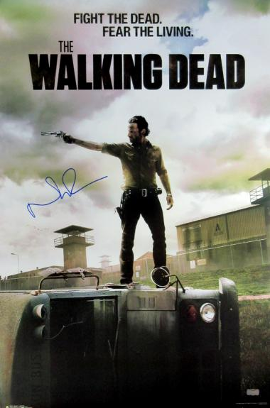 Norman Reedus Signed The Walking Dead Season Three Full Size Poster