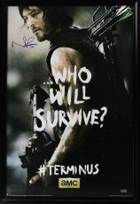 "Norman Reedus Signed The Walking Dead Terminus ""Who Will Survive"" Full Size Framed Poster"