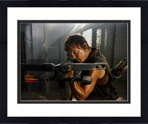 Norman Reedus Signed Walking Dead 16x20 Crouching W/ Crossbow Photo *S -JSA Auth