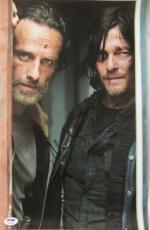 Norman Reedus Signed Walking Dead Autographed 11x17 Photo PSA/DNA #Y83880