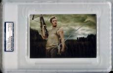 NORMAN REEDUS Silver Ink Signed 4x6 Photo The Walking Dead w/ Crossbow PSA/DNA