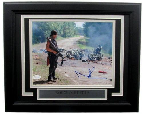 Norman Reedus The Walking Dead Autographed 8x10 Photo Framed JSA 135403