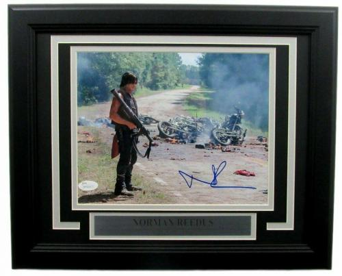 Norman Reedus The Walking Dead Autographed 8x10 Photo Framed JSA 135403