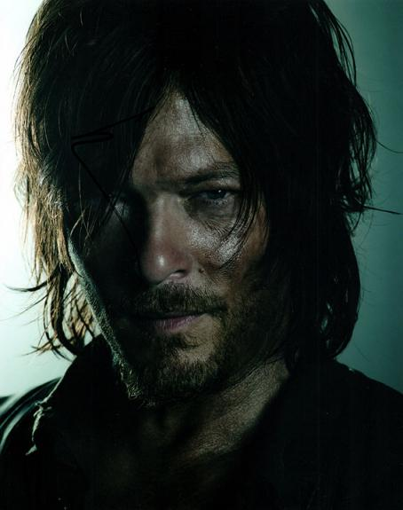 Norman Reedus The Walking Dead Autographed Photo UACC RD AFTAL RACC TS