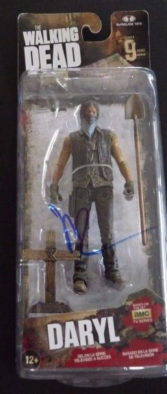 "Norman Reedus The Walking Dead Daryl 6"" Action Figure Signed McFarlane"