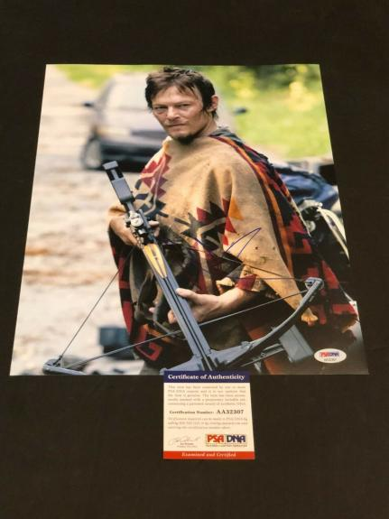 Norman Reedus The Walking Dead Daryl Signed Autograph11x14 Photo PSA DNA COA
