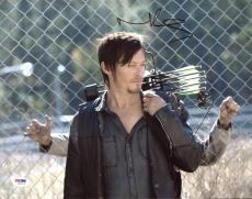 Norman Reedus The Walking Dead Signed 11X14 Photo PSA/DNA #Z89174