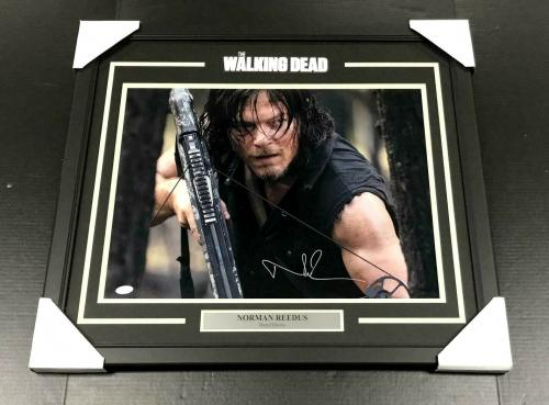 Norman Reedus The Walking Dead Signed Autographed Framed 16x20 Photo Jsa Coa