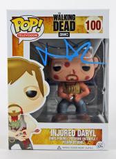 "Norman Reedus The Walking Dead Signed ""Injured Daryl"" POP! Vinyl Figure PSA/DNA"
