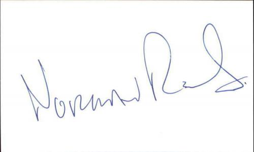 """NORMAN REEDUS WALKING DEAD Signed 3""""x5"""" Index Card"""