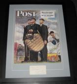 Norman Rockwell Signed Framed 23x30 Photo Poster Display JSA LOA