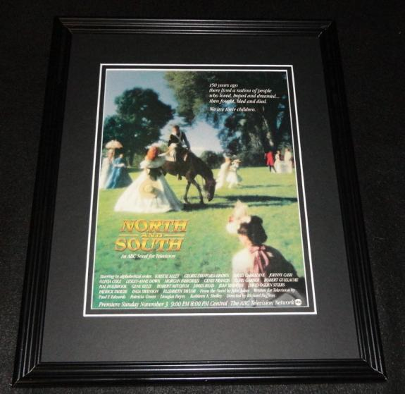 North and South 1985 ABC 11x14 Framed ORIGINAL Advertisement Patrick Swayze