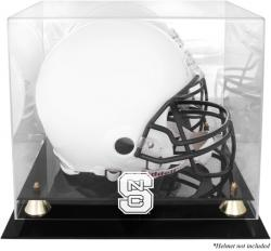 North Carolina State Wolfpack Golden Classic Team Logo Helmet Display Case with Mirrored Back