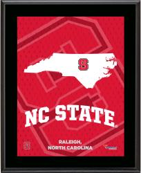 "North Carolina State Wolfpack Sublimated 10.5"" x 13"" State Plaque"