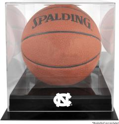 North Carolina Tar Heels Black Base (2015-Present Logo) Basketball Display Case with Mirrored Back