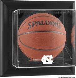 North Carolina Tar Heels Black Framed (2015-Present Logo) Wall-Mountable Basketball Display Case