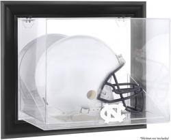 North Carolina Black Framed Wall-Mountable Tar Heels Helmet Display Case