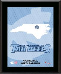 "North Carolina Tar Heels Sublimated 10.5"" x 13"" State Plaque"