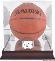 North Carolina (UNC) Tar Heels Mahogany Antique Finish (2015-Present Logo) Basketball Display Case with Mirror Back