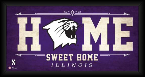 "Northwestern Wildcats Framed 10"" x 20"" Home Sweet Home Collage"