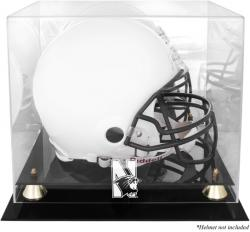 Northwestern Wildcats Golden Classic Team Logo Helmet Display Case with Mirrored Back