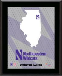 "Northwestern Wildcats Sublimated 10.5"" x 13"" State Plaque"