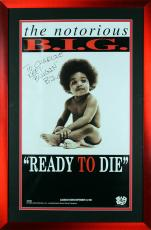 Notorious B.I.G. Signed & Framed 18x32 Ready To Die Poster BAS #A03210
