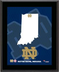 NOTRE DAME FIGHTING IRISH (STATE) 10x13 PLAQUE (SUBL) - Mounted Memories