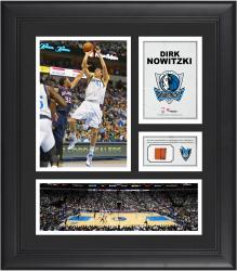 Dirk Nowitzki Dallas Mavericks Framed 15'' x 17'' Collage with Team-Used Ball - Mounted Memories