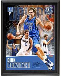 """Dirk Nowitzki Dallas Mavericks Sublimated 10.5"""" x 13"""" Player Collage Photograph Plaque"""