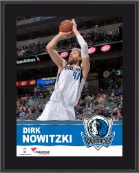 Dirk Nowitzki Dallas Mavericks Sublimated 10.5'' x 13'' Plaque - Mounted Memories