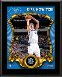 Dirk Nowitzki Dallas Mavericks Sublimated 10.5'' x 13'' Stylized Plaque - Mounted Memories