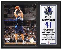 "Dallas Mavericks Dirk Nowitzki 12"" x 15"" Plaque with 8"" x 10"" Photograph & Plate"