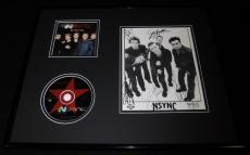 *NSYNC Group Facsimile Signed Framed 16x20 Photo & CD Display