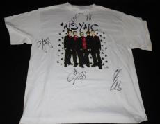 *NSYNC Group Signed Vintage 2001 T Shirt Timberlake Chasez Kirkpatrick +2