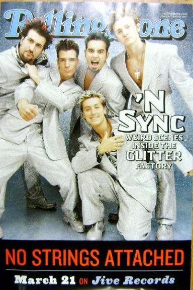 N'Sync poster unsigned rare promo for Rollin Stone Magazine Cover (Justin Timberlake)