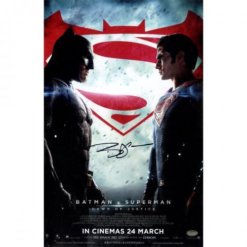 Ben Affleck Signed 'Batman vs. Superman' 11x17 Poster (Schwartz Sports Auth)