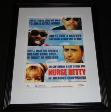 Nurse Betty 2000 Framed 11x14 ORIGINAL Advertisement Chris Rock Morgan Freeman